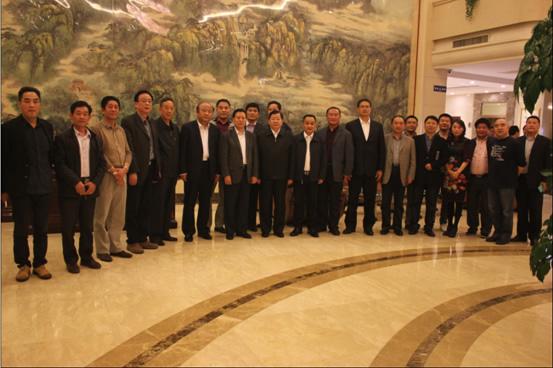 刘绪刚会长率团访问山东省临沂市 市委书记张少军市长陈先运陪同